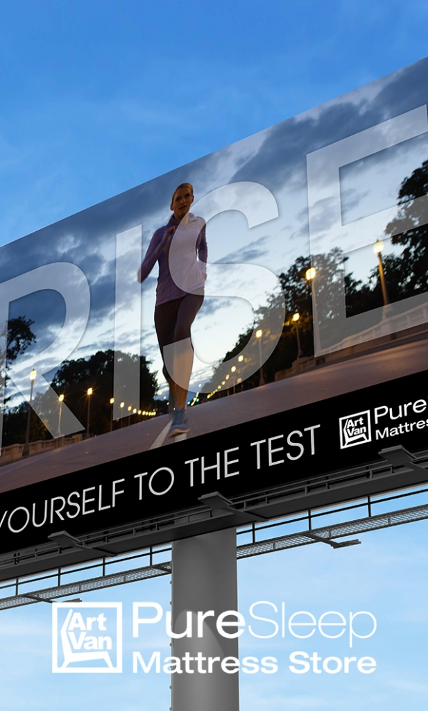 Image of a PureSleep billboard